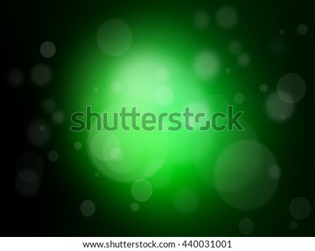 Soft Green background with de focused light - stock photo