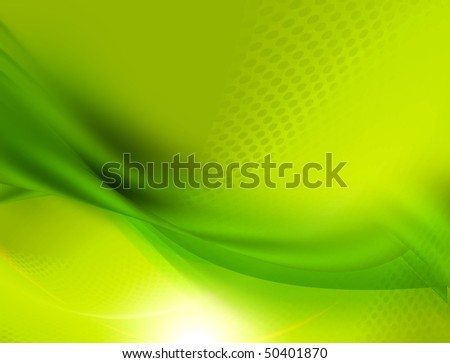 Soft green satin abstract design