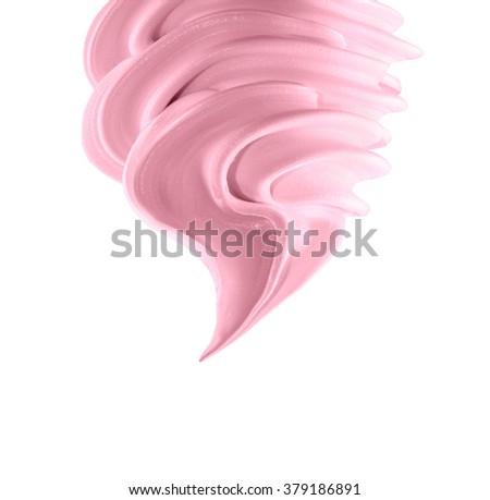 Soft ice cream on white background - stock photo