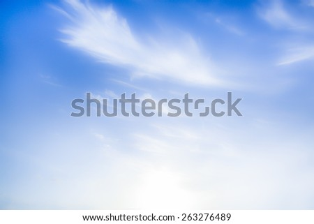 soft light with blue sky cloudy white