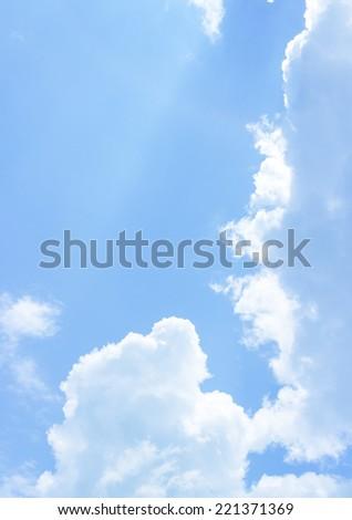 Soft nice white cloud on the sky - stock photo