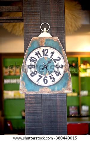 Soft old Antique Clock  - stock photo