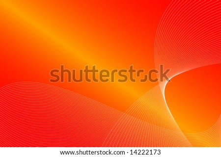 Soft orange waves as perfect background - stock photo