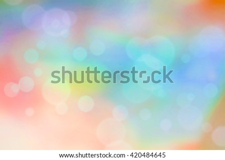 Soft pastel color background with bokeh circles