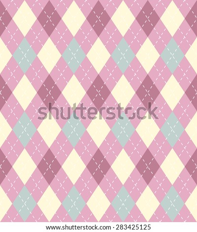 Soft pastel pink and blue argyle seamless pattern, can be used as repeating pattern. - stock photo