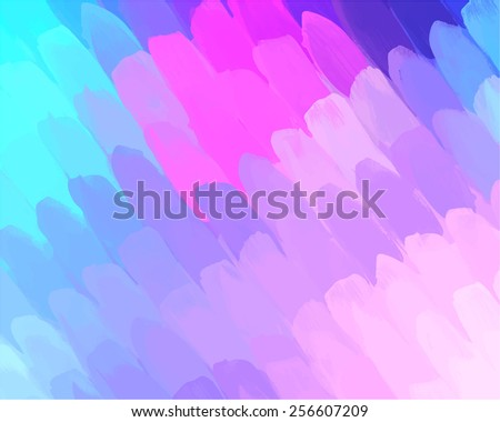 Soft pink and blue diagonal brush strokes background. Raster version - stock photo