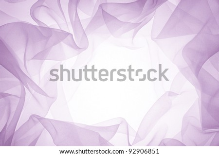 soft purple chiffon with curve and wave - stock photo