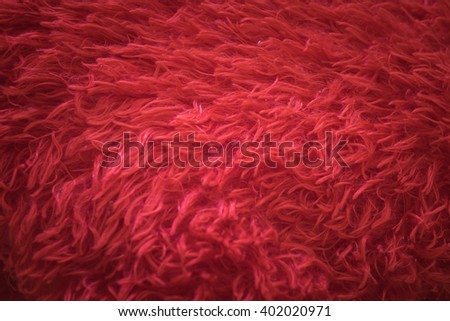 Soft red Fur Background Texture for Furniture Material - stock photo