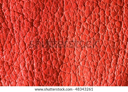 Soft red leather - stock photo