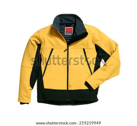 Soft Shell Jacket Yellow - stock photo