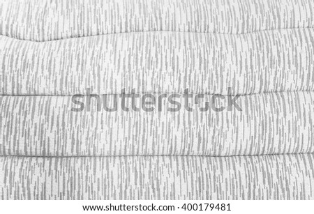 Soft Shiny White Pattern Pillow Background Texture for Furniture Material - stock photo