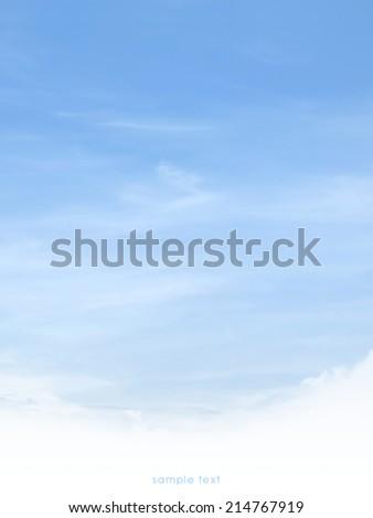 soft sky background  - stock photo