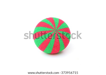 Soft sponge ball for playing and practicing grabbing  - stock photo
