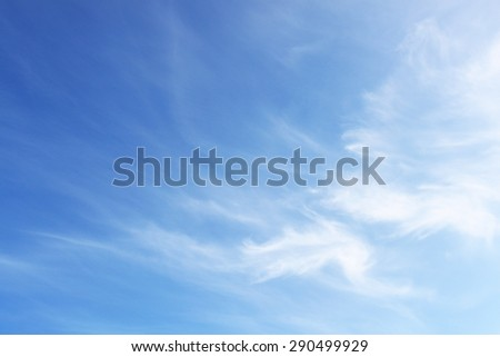 Soft surface of sky