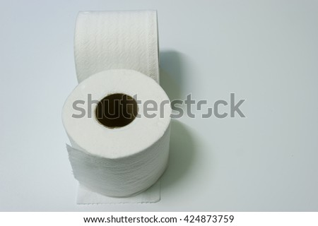 Soft Toilet Paper Isolated on a white background.