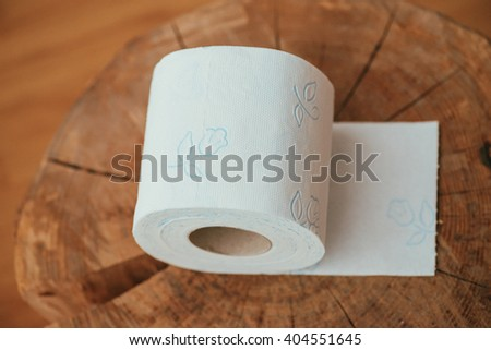 soft toilet paper roll - stock photo