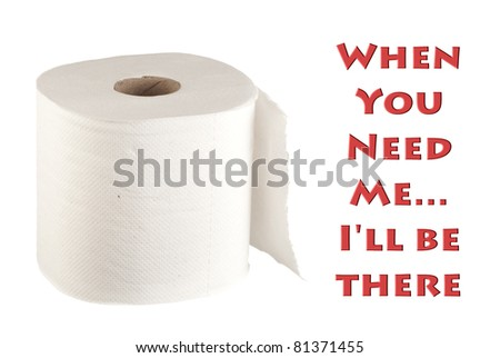 Soft Toilet Roll - stock photo