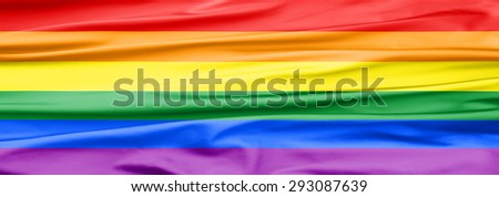 Soft Velvet Piece of Fabric banner with Folds in rainbow color to be used as background or overlay