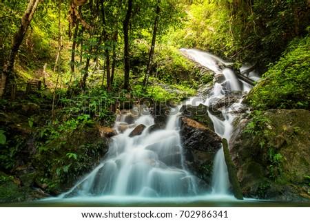 beautiful soft waterfall in - photo #10