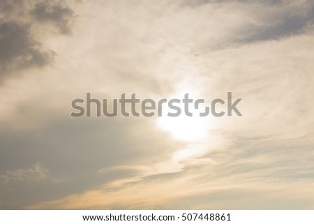 Soft white clouds against blue sky background.