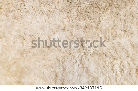 Soft White Fur Background Texture for Furniture Material - stock photo