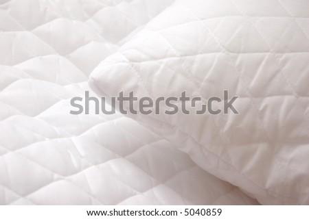 Soft white pillows - stock photo