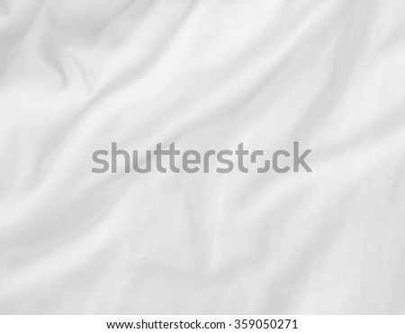 soft white wrinkle bed sheets for background - stock photo