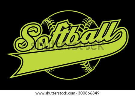 Softball Design Banner Illustration Softball Design Stock ...