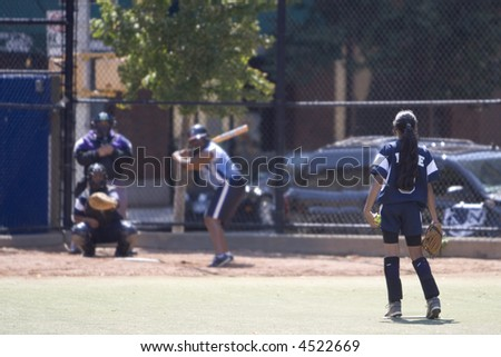 Softball in the City - stock photo