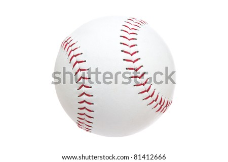 Softball Isolated on a White Background - stock photo