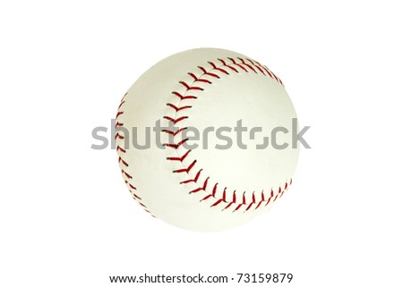 Softball Isolated on White Background