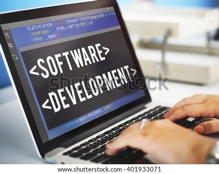 Software Application Learning Strategy Concept - stock photo