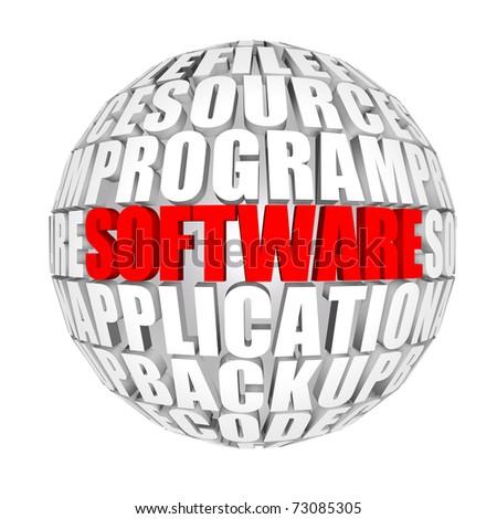software around the world - stock photo