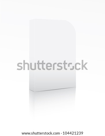 Software box on white background - stock photo