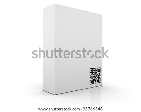Software Box with QR Code - stock photo