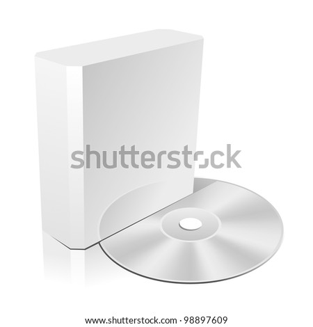 Software CD Box. Blank Design Template for Branding. Rasterized Version