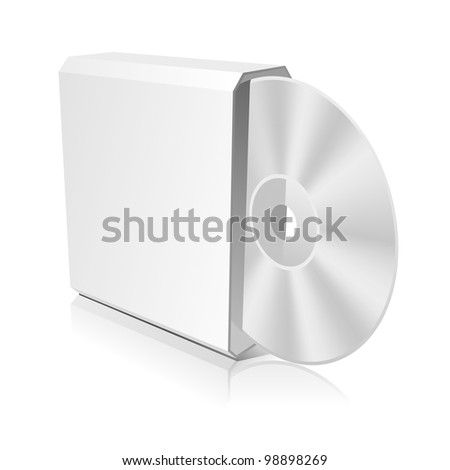 Software CD Box Blank Design Template for Branding. Rasterized Version