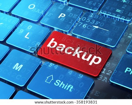 Software concept: Backup on computer keyboard background - stock photo