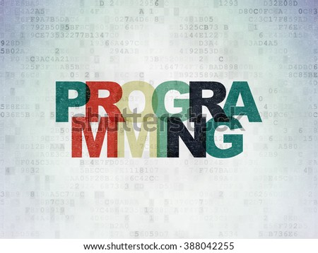 Software concept: Programming on Digital Paper background - stock photo