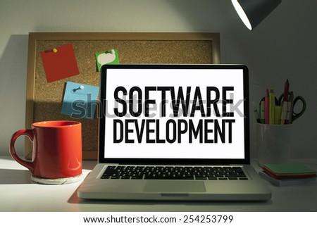 Software Development - stock photo