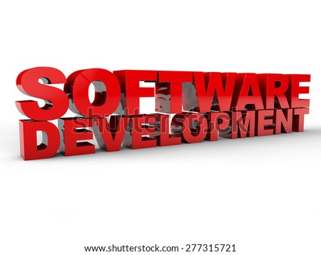 Software Development over white Background - stock photo