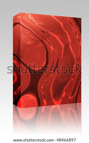 Software package box Abstract wallpaper background illustration of wavy flowing modern energy