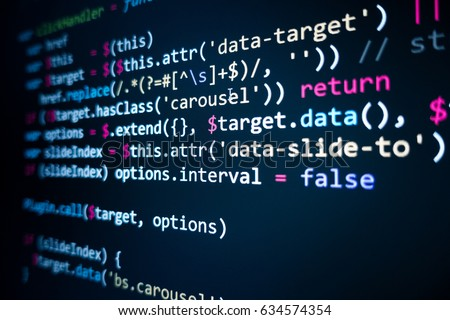 Titre de film en images... - Page 14 Stock-photo-software-source-code-programming-code-programming-code-on-computer-screen-developer-working-on-634574354