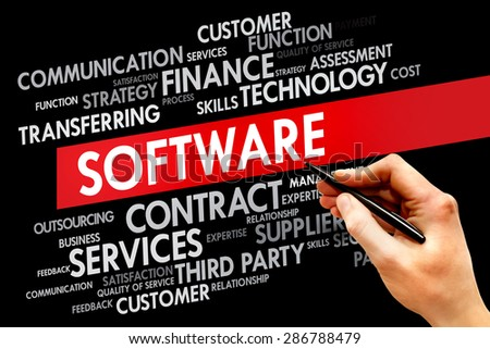 Software word cloud concept - stock photo