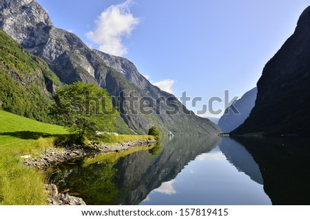 Sogne fjord - stock photo