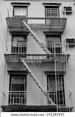 SOHO facades, New York, USA - stock photo