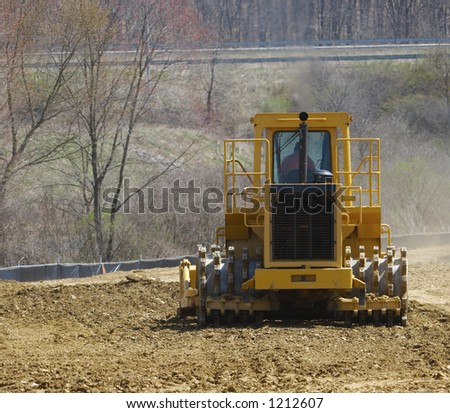 Soil Compactor - stock photo