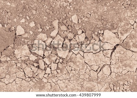 soil drought cracked texture - stock photo