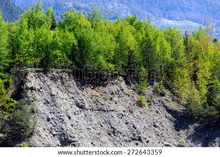 Soil erosion - stock photo