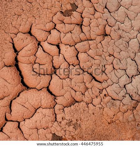 soil erosion in areas of iron ore mining - stock photo